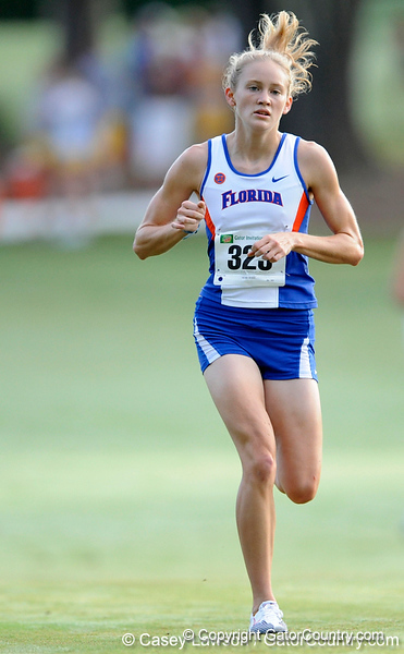 photo by Casey Brooke Lawson<br /> <br /> University of Florida Cross Country Men (8K) and Women (5K) win the Mountain Dew Invitational for fourth straight year on Saturday, September 20, 2008 at the University Golf Course in Gainesville, Fla.<br /> <br /> 080920_GarrowLaura_1932_CBLawson