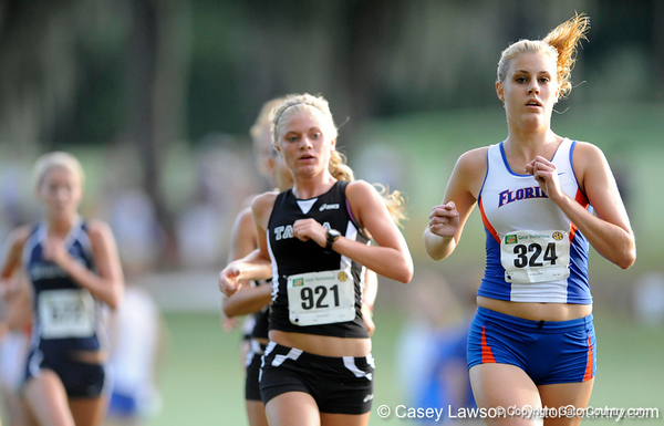 photo by Casey Brooke Lawson<br /> <br /> University of Florida Cross Country Men (8K) and Women (5K) win the Mountain Dew Invitational for fourth straight year on Saturday, September 20, 2008 at the University Golf Course in Gainesville, Fla.<br /> <br /> 080920_KramerKathryn_1959_CBLawson