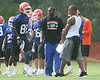 Photo by Tim Casey <br /> <br /> ...during the University of Florida football team's first summer practice on Sunday, August 6 2006 in Gainesville, Florida. Only freshman players participated in the afternoon practice.