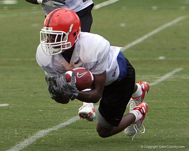 Photo by Tim Casey <br /> <br /> ...during the University of Florida football team's third day of summer practice on Tuesday, August 7, 2006 in Gainesville, Fla.