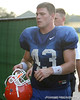 photo by Tim Casey<br /> <br /> UF junior long snapper James Smith leaves the field after the Gators' practiced on Friday, December 28, 2007 at Disney's Wide World of Sports Complexin Kissimmee, Fla. UF will face Michigan in the Capital One Bowl on Jan. 1, 2008 at the Florida Citrus Bowl stadium.