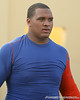 photo by Tim Casey<br /> <br /> Florida freshman offensive lineman Maurkice Pouncey leaves the field after the Gators' practiced on Friday, December 28, 2007 at Disney's Wide World of Sports Complexin Kissimmee, Fla. UF will face Michigan in the Capital One Bowl on Jan. 1, 2008 at the Florida Citrus Bowl stadium.