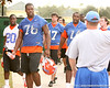 photo by Tim Casey<br /> <br /> UF sophomore offensive lineman Marcus Gilbert leaves the field after the Gators practiced on Sunday, December 30, 2007 at Disney's Wide World of Sports Complex in Lake Buena Vista, Fla.