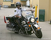 photo by Tim Casey<br /> <br /> An Orlando Police Department motorcycle officer leaves after the Gators practiced on Sunday, December 30, 2007 at Disney's Wide World of Sports Complex in Lake Buena Vista, Fla.