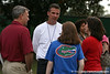 photo by Tim Casey<br /> <br /> UF head coach Urban Meyer talks with St. Augustine High School football coach Joey Wiles atfer the Gators practiced on Sunday, December 30, 2007 at Disney's Wide World of Sports Complex in Lake Buena Vista, Fla.