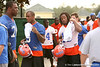 photo by Tim Casey<br /> <br /> Andre Caldwell and Tony Joiner leave the field after the Gators practiced on Sunday, December 30, 2007 at Disney's Wide World of Sports Complex in Lake Buena Vista, Fla.