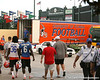 photo by Tim Casey<br /> <br /> Moses Jenkins and Deonte Tompson walk past the Florida equipment truck after the Gators practiced on Sunday, December 30, 2007 at Disney's Wide World of Sports Complex in Lake Buena Vista, Fla.