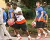 photo by Tim Casey<br /> <br /> UF sophomore wide receiver Riley Cooper leaves the field after the Gators practiced on Sunday, December 30, 2007 at Disney's Wide World of Sports Complex in Lake Buena Vista, Fla.