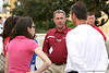 photo by Tim Casey<br /> <br /> St. Augustine High School football coach Joey Wiles speaks with UF head coach Urban Meyer after the Gators practiced on Sunday, December 30, 2007 at Disney's Wide World of Sports Complex in Lake Buena Vista, Fla.
