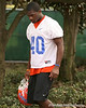 photo by Tim Casey<br /> <br /> UF freshman linebacker Brandon Hicks leaves the field after the Gators practiced on Sunday, December 30, 2007 at Disney's Wide World of Sports Complex in Lake Buena Vista, Fla.
