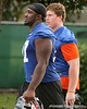 photo by Tim Casey<br /> <br /> UF junior offensive lineman Jason Watkins leaves the field after the Gators practiced on Sunday, December 30, 2007 at Disney's Wide World of Sports Complex in Lake Buena Vista, Fla.