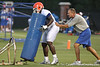 080804_WilsonRonnie_1848_TCasey<br /> <br /> photo by Tim Casey<br /> <br /> during the Florida Gators' first day of fall football practice on Monday, August 4, 2008 at the Sanders football practice fields in Gainesville, Fla. Only freshman participated in the morning session.