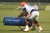 080804_HunterOmar_1854_TCasey<br /> <br /> photo by Tim Casey<br /> <br /> during the Florida Gators' first day of fall football practice on Monday, August 4, 2008 at the Sanders football practice fields in Gainesville, Fla. Only freshman participated in the morning session.