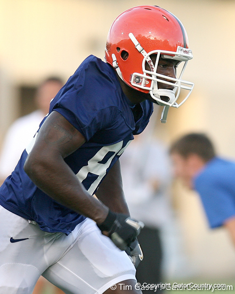 080804_HinesOmarius_1950_TCasey<br /> <br /> photo by Tim Casey<br /> <br /> during the Florida Gators' first day of fall football practice on Monday, August 4, 2008 at the Sanders football practice fields in Gainesville, Fla. Only freshman participated in the morning session.