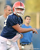 080804_QB38_1984_TCasey<br /> <br /> photo by Tim Casey<br /> <br /> during the Florida Gators' first day of fall football practice on Monday, August 4, 2008 at the Sanders football practice fields in Gainesville, Fla. Only freshman participated in the morning session.