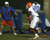 080804_OkineEarl_1764_TCasey<br /> <br /> photo by Tim Casey<br /> <br /> during the Florida Gators' first day of fall football practice on Monday, August 4, 2008 at the Sanders football practice fields in Gainesville, Fla. Only freshman participated in the morning session.