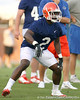080804_DempsJeff_1980_TCasey<br /> <br /> photo by Tim Casey<br /> <br /> during the Florida Gators' first day of fall football practice on Monday, August 4, 2008 at the Sanders football practice fields in Gainesville, Fla. Only freshman participated in the morning session.