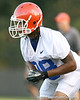 080804_BrownJeremy_2010_TCasey<br /> <br /> photo by Tim Casey<br /> <br /> during the Florida Gators' first day of fall football practice on Monday, August 4, 2008 at the Sanders football practice fields in Gainesville, Fla. Only freshman participated in the morning session.