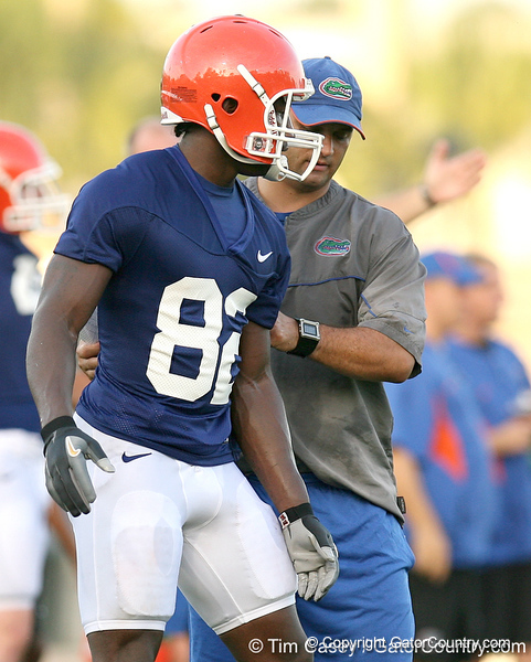 080804_HinesOmarius_1994_TCasey<br /> <br /> photo by Tim Casey<br /> <br /> during the Florida Gators' first day of fall football practice on Monday, August 4, 2008 at the Sanders football practice fields in Gainesville, Fla. Only freshman participated in the morning session.