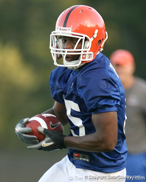 080804_HammondJrFrankie_2028_TCasey<br /> <br /> photo by Tim Casey<br /> <br /> during the Florida Gators' first day of fall football practice on Monday, August 4, 2008 at the Sanders football practice fields in Gainesville, Fla. Only freshman participated in the morning session.