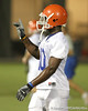 080804_HicksBrandon_1783_TCasey<br /> <br /> photo by Tim Casey<br /> <br /> during the Florida Gators' first day of fall football practice on Monday, August 4, 2008 at the Sanders football practice fields in Gainesville, Fla. Only freshman participated in the morning session.