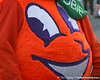 photo by Tim Casey<br /> <br /> Orange Bowl mascot Obie waits before the Gators arrived for the BCS Championship Game on Friday, January 2, 2009 at Fort Lauderdale-Hollywood International Airport in Fort Lauderdale, Fla.