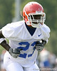 037_080804_RickersonJacques_2306_TCasey<br /> <br /> photo by Tim Casey<br /> <br /> during the Florida Gators' first day of fall football practice on Monday, August 4, 2008 at the Sanders football practice fields in Gainesville, Fla.