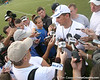 144_080804_MeyerUrban_2676_TCasey<br /> <br /> photo by Tim Casey<br /> <br /> during the Florida Gators' first day of fall football practice on Monday, August 4, 2008 at the Sanders football practice fields in Gainesville, Fla.