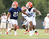 075_080804_MoodyEmmanuelSpikesBrandon_2410_TCasey<br /> <br /> photo by Tim Casey<br /> <br /> during the Florida Gators' first day of fall football practice on Monday, August 4, 2008 at the Sanders football practice fields in Gainesville, Fla.