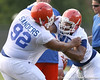 061_080804_MarshLawrenceSandersTerron_2372_TCasey<br /> <br /> photo by Tim Casey<br /> <br /> during the Florida Gators' first day of fall football practice on Monday, August 4, 2008 at the Sanders football practice fields in Gainesville, Fla.