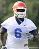 030_080804_HowardJaye_2288_TCasey<br /> <br /> photo by Tim Casey<br /> <br /> during the Florida Gators' first day of fall football practice on Monday, August 4, 2008 at the Sanders football practice fields in Gainesville, Fla.