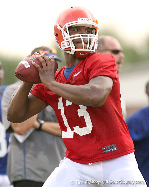 088_080804_NewtonCameron_2450_TCasey<br /> <br /> photo by Tim Casey<br /> <br /> during the Florida Gators' first day of fall football practice on Monday, August 4, 2008 at the Sanders football practice fields in Gainesville, Fla.