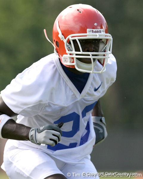 042_080804_RickersonJacques_2316_TCasey<br /> <br /> photo by Tim Casey<br /> <br /> during the Florida Gators' first day of fall football practice on Monday, August 4, 2008 at the Sanders football practice fields in Gainesville, Fla.