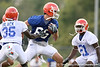 083_080804_CooperRiley_2432_TCasey<br /> <br /> photo by Tim Casey<br /> <br /> during the Florida Gators' first day of fall football practice on Monday, August 4, 2008 at the Sanders football practice fields in Gainesville, Fla.