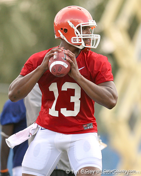 089_080804_NewtonCameron_2454_TCasey<br /> <br /> photo by Tim Casey<br /> <br /> during the Florida Gators' first day of fall football practice on Monday, August 4, 2008 at the Sanders football practice fields in Gainesville, Fla.