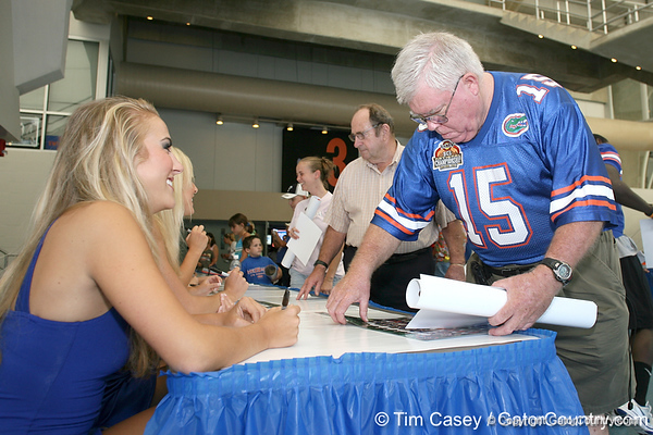 080817_Dazzlers_5282_TCasey<br /> <br /> photo by Tim Casey<br /> <br /> during the University of Florida football team's Alltel Football Fan Day on Sunday, August 17, 2008 at the Stephen C. O'Connell Center in Gainesville, Fla.