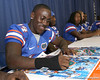 080817_AndersonMarkihe_5197_TCasey<br /> <br /> photo by Tim Casey<br /> <br /> during the University of Florida football team's Alltel Football Fan Day on Sunday, August 17, 2008 at the Stephen C. O'Connell Center in Gainesville, Fla.