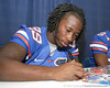 080817_JenkinsJanoris_5208_TCasey<br /> <br /> photo by Tim Casey<br /> <br /> during the University of Florida football team's Alltel Football Fan Day on Sunday, August 17, 2008 at the Stephen C. O'Connell Center in Gainesville, Fla.
