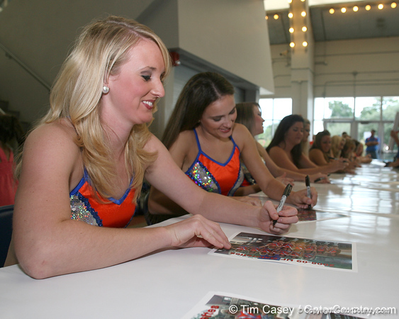 080817_Gatorettes_5304_TCasey<br /> <br /> photo by Tim Casey<br /> <br /> during the University of Florida football team's Alltel Football Fan Day on Sunday, August 17, 2008 at the Stephen C. O'Connell Center in Gainesville, Fla.