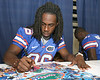 080817_JenkinsMoses_5217_TCasey<br /> <br /> photo by Tim Casey<br /> <br /> during the University of Florida football team's Alltel Football Fan Day on Sunday, August 17, 2008 at the Stephen C. O'Connell Center in Gainesville, Fla.