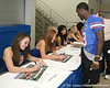 080817_RaineyChrisDazzlers_5274_TCasey<br /> <br /> photo by Tim Casey<br /> <br /> during the University of Florida football team's Alltel Football Fan Day on Sunday, August 17, 2008 at the Stephen C. O'Connell Center in Gainesville, Fla.