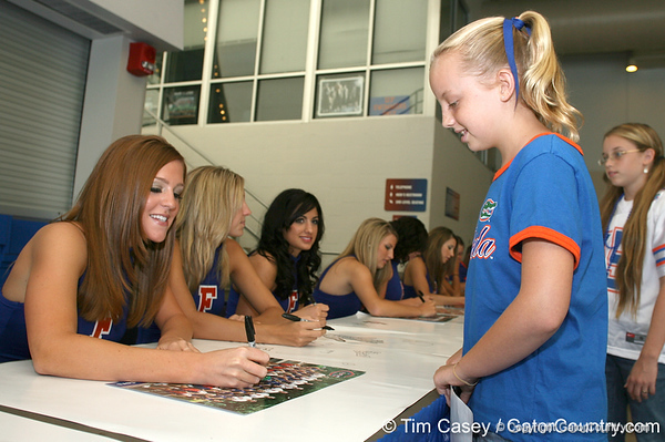 080817_Dazzlers_5288_TCasey<br /> <br /> photo by Tim Casey<br /> <br /> during the University of Florida football team's Alltel Football Fan Day on Sunday, August 17, 2008 at the Stephen C. O'Connell Center in Gainesville, Fla.