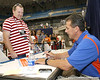 080817_MeyerUrban_5226_TCasey<br /> <br /> photo by Tim Casey<br /> <br /> during the University of Florida football team's Alltel Football Fan Day on Sunday, August 17, 2008 at the Stephen C. O'Connell Center in Gainesville, Fla.