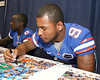 080817_MurphyLouis_5270_TCasey<br /> <br /> photo by Tim Casey<br /> <br /> during the University of Florida football team's Alltel Football Fan Day on Sunday, August 17, 2008 at the Stephen C. O'Connell Center in Gainesville, Fla.