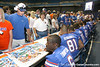080817_ThompsonDeonte_5264_TCasey<br /> <br /> photo by Tim Casey<br /> <br /> during the University of Florida football team's Alltel Football Fan Day on Sunday, August 17, 2008 at the Stephen C. O'Connell Center in Gainesville, Fla.
