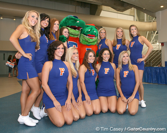 080817_Dazzlers_5315_TCasey<br /> <br /> photo by Tim Casey<br /> <br /> during the University of Florida football team's Alltel Football Fan Day on Sunday, August 17, 2008 at the Stephen C. O'Connell Center in Gainesville, Fla.