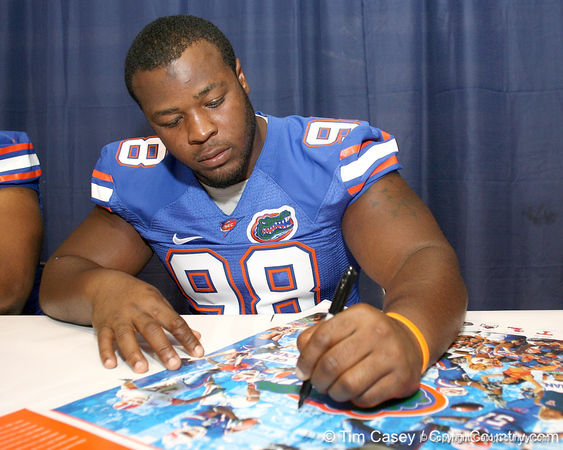 080817_EppsTroy_5182_TCasey<br /> <br /> photo by Tim Casey<br /> <br /> during the University of Florida football team's Alltel Football Fan Day on Sunday, August 17, 2008 at the Stephen C. O'Connell Center in Gainesville, Fla.