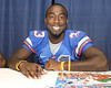080817_RaineyChris_5135_TCasey<br /> <br /> photo by Tim Casey<br /> <br /> during the University of Florida football team's Alltel Football Fan Day on Sunday, August 17, 2008 at the Stephen C. O'Connell Center in Gainesville, Fla.