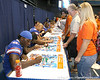 080817_HinesOmarius_5127_TCasey<br /> <br /> photo by Tim Casey<br /> <br /> during the University of Florida football team's Alltel Football Fan Day on Sunday, August 17, 2008 at the Stephen C. O'Connell Center in Gainesville, Fla.