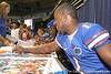 080817_HarvinPercy_5250_TCasey<br /> <br /> photo by Tim Casey<br /> <br /> during the University of Florida football team's Alltel Football Fan Day on Sunday, August 17, 2008 at the Stephen C. O'Connell Center in Gainesville, Fla.